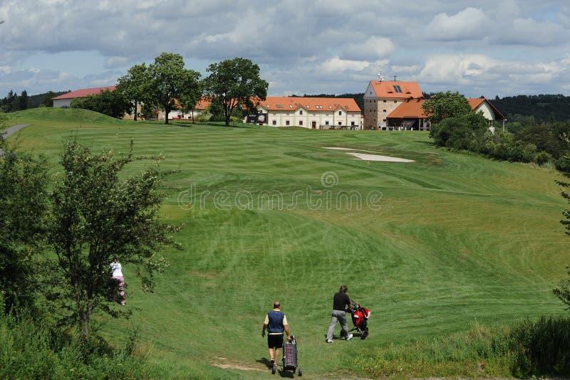 Campo de golf - República Checa imágenes de archivo libres de regalías