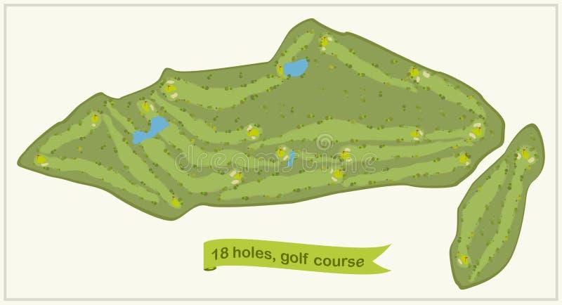 Campo de golfe ilustração do vetor