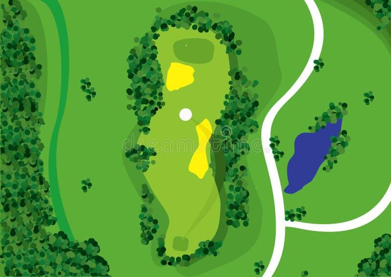 Campo de golfe ilustração royalty free
