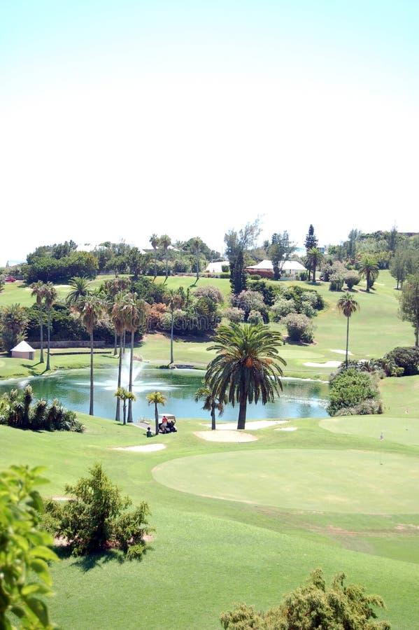 Campo de golfe, Bermuda fotografia de stock royalty free