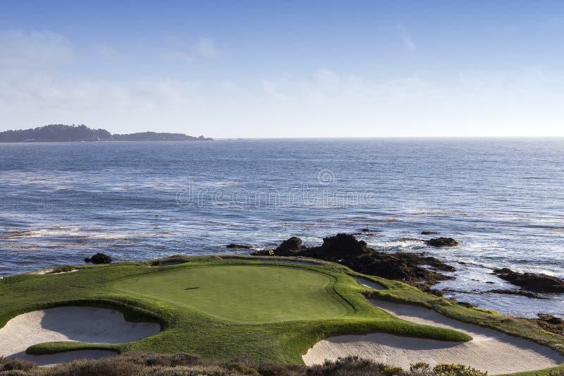Campo de golfe de Pebble Beach, Monterey, Califórnia, EUA foto de stock