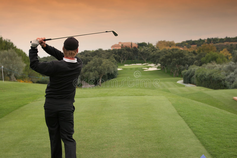 Campo de golfe de Valderrama, spain fotografia de stock royalty free