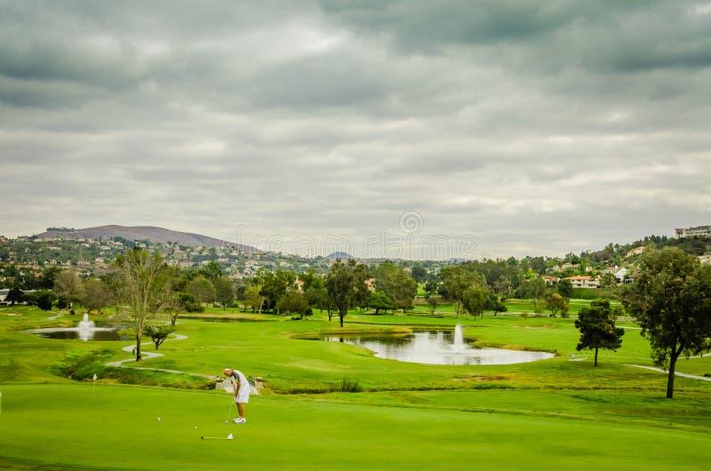 Campo de golfe do recurso - Carlsbad, CA imagens de stock