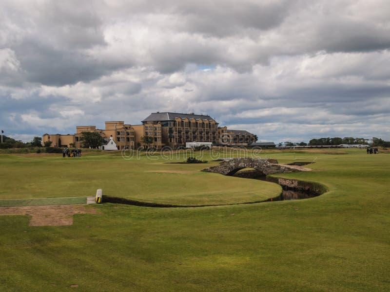 Campo de golfe do St Andrews Links Old Course fotos de stock