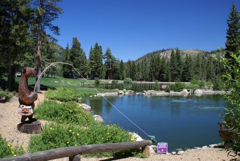 Campo de golfe em lagos gigantescos, CA fotografia de stock