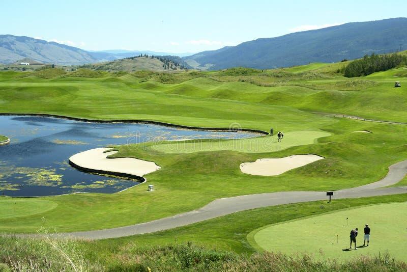 Campo de golfe Golfing Canadá BC fotos de stock