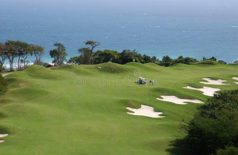 Campo de golfe nas Caraíbas imagens de stock royalty free