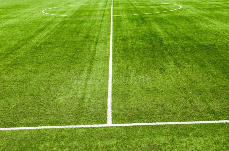 Campo de grama de Soccerl fotografia de stock