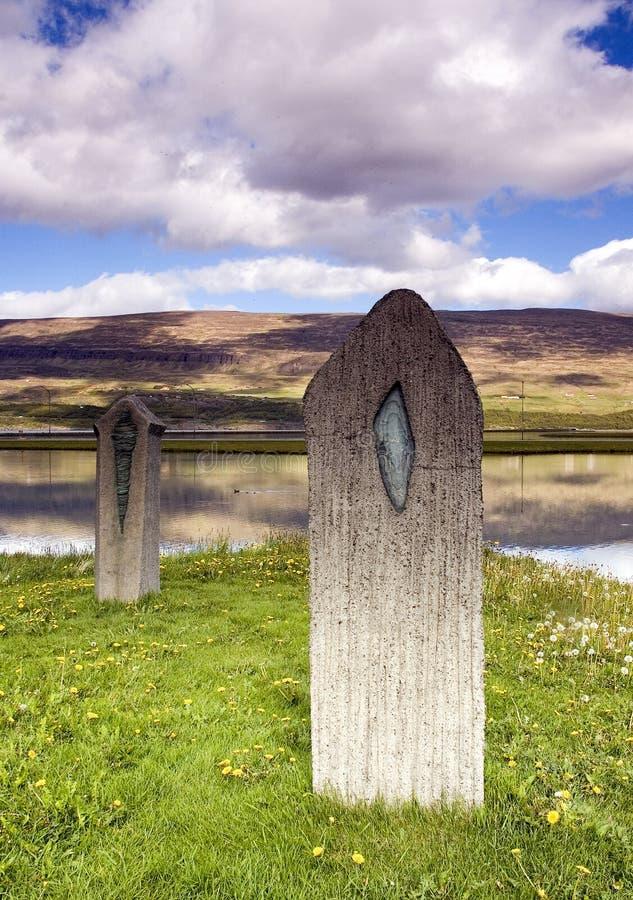 Campo de Islândia imagens de stock royalty free