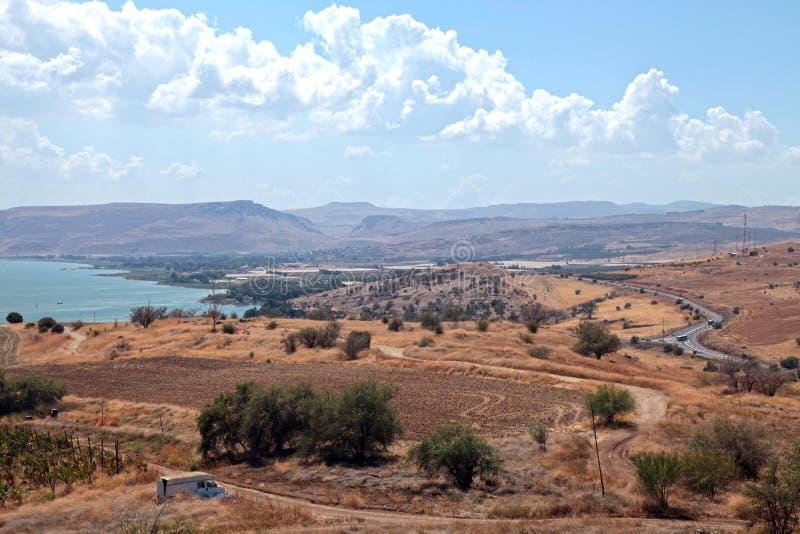 Campo de Israel, mar de Galilee, Tiberias fotos de stock royalty free