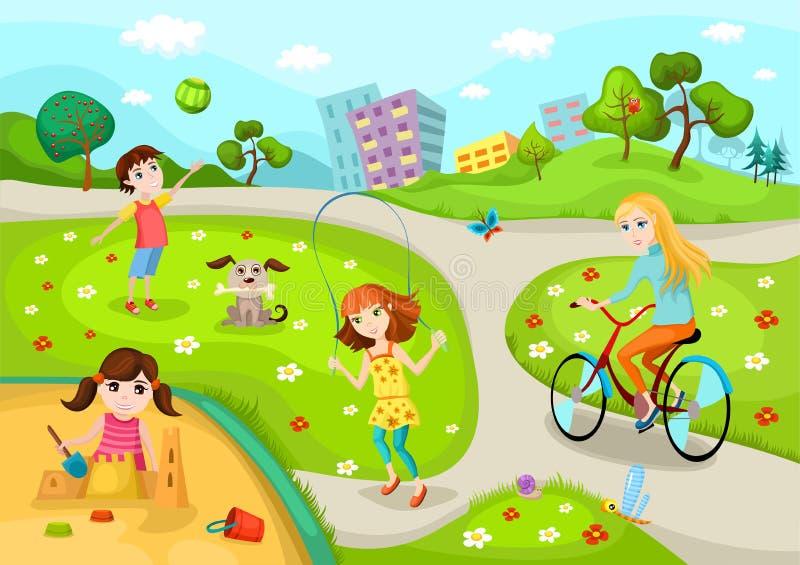 Campo de jogos ilustração royalty free