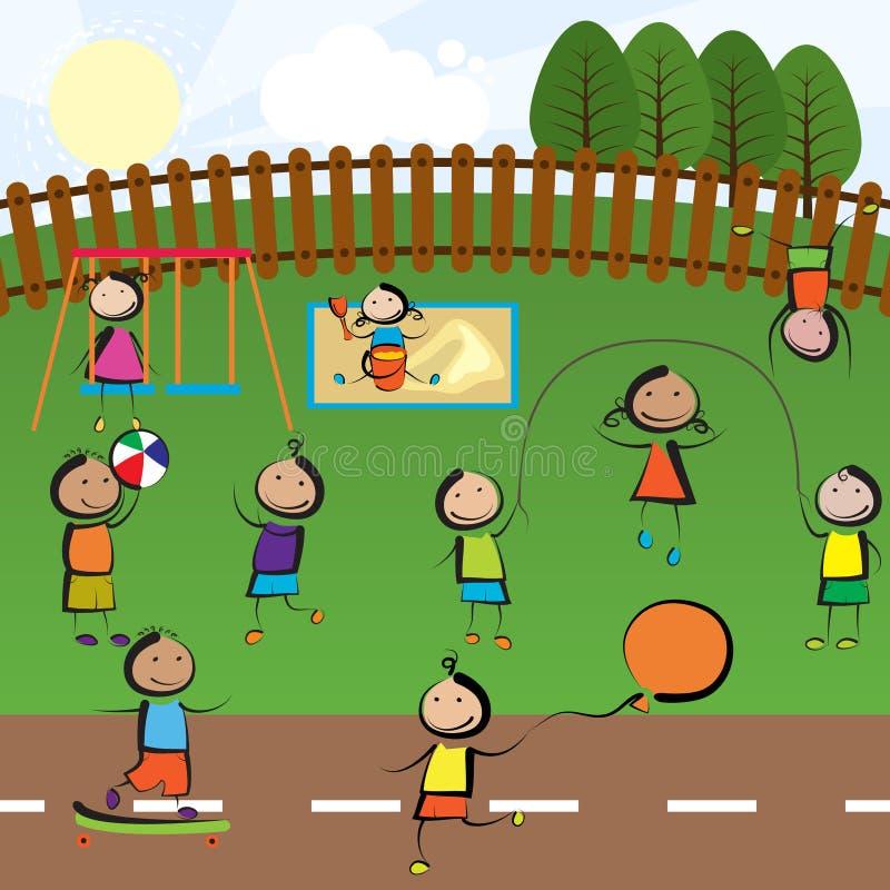 Campo de jogos ilustração do vetor