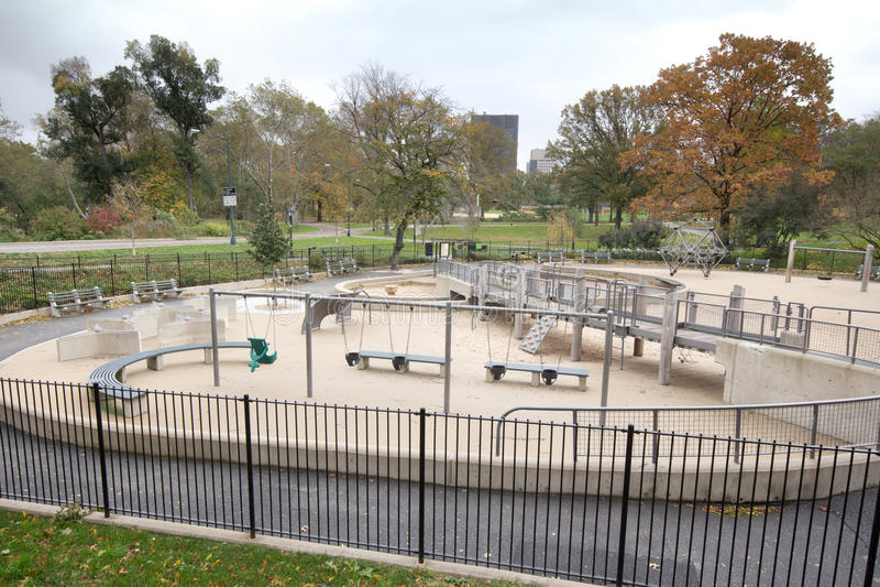 Campo de jogos abandonado o dia após o furacão Sandy