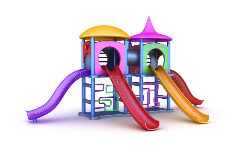 Campo de jogos colorido para crianças ilustração do vetor