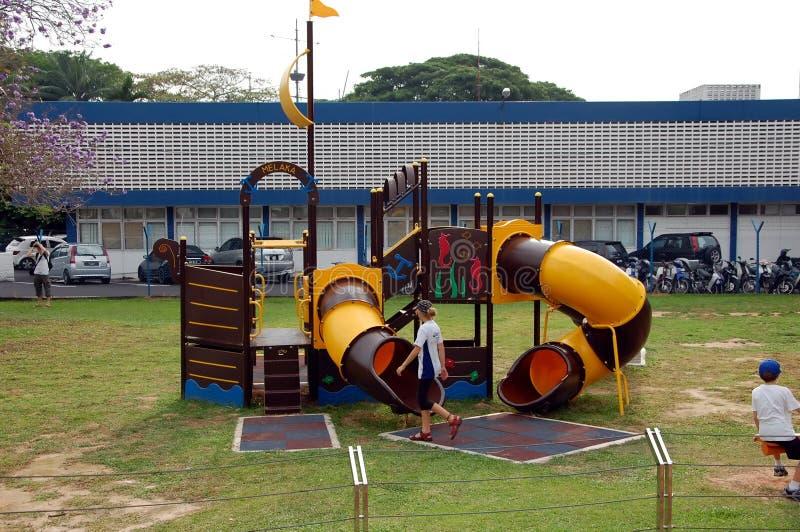 Campo de jogos das crianças em Malacca foto de stock royalty free