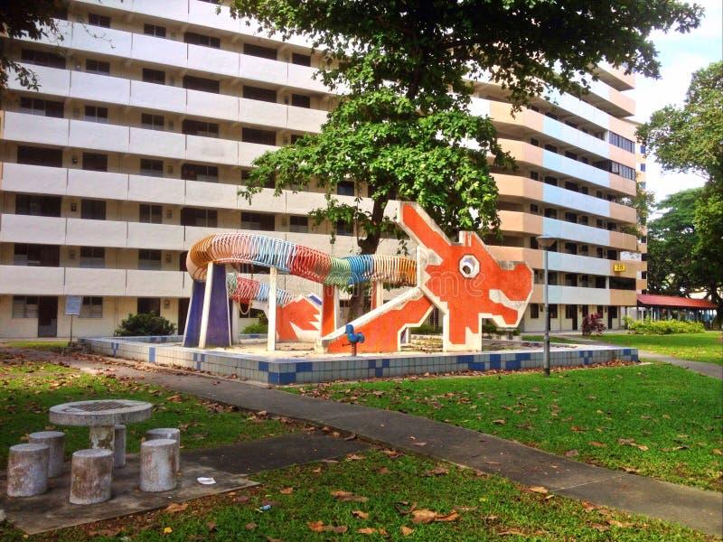 Campo de jogos do dragão - Singapura fotografia de stock royalty free