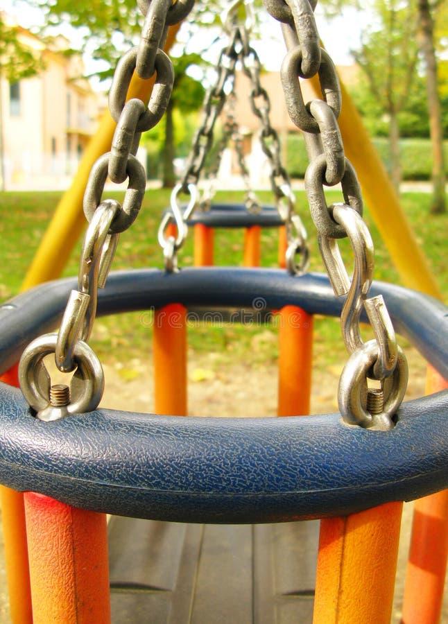 Campo de jogos no parque fotografia de stock