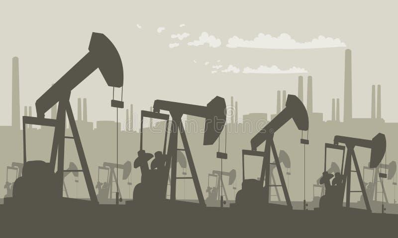 Campo de la bomba de aceite libre illustration