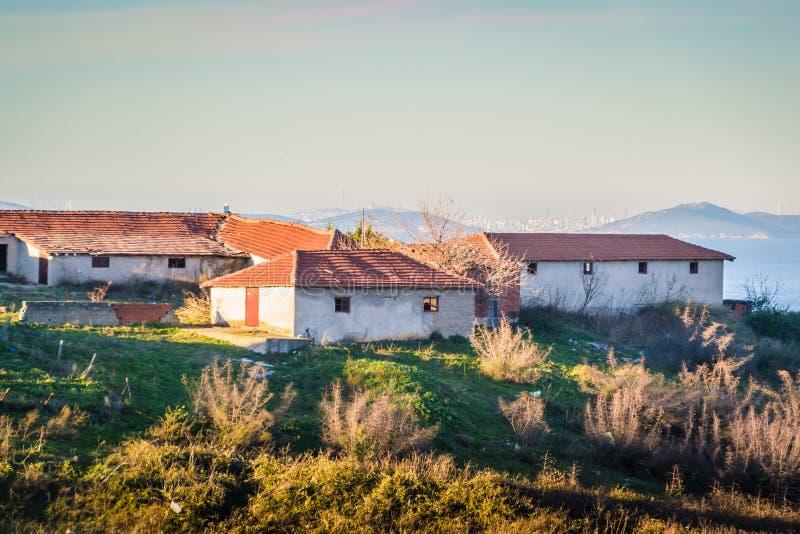 Campo de la ciudad de Cinarcik - Turquía fotos de archivo