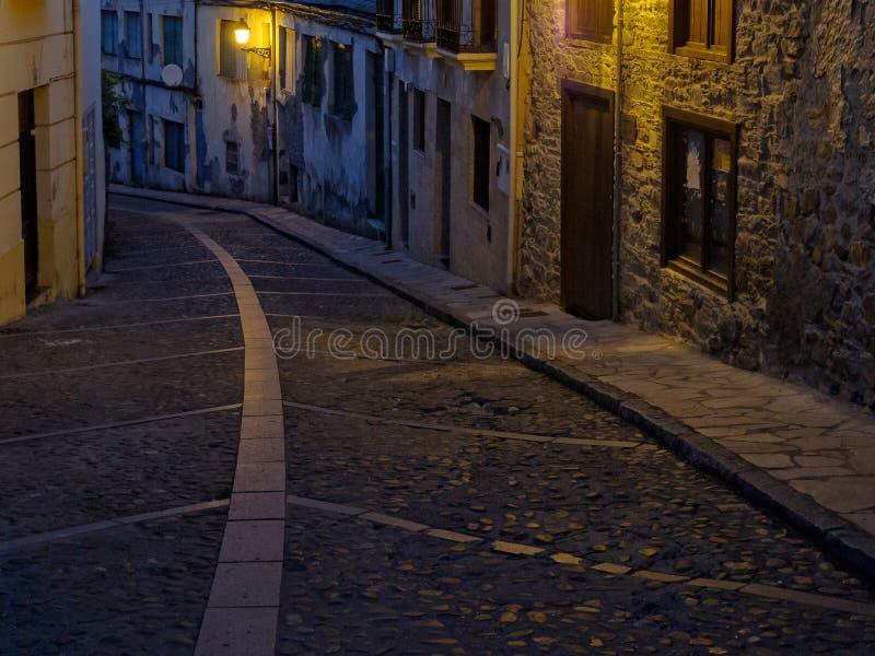 Campo de la Gallina Street - Villafrance del Bierzo imagen de archivo libre de regalías