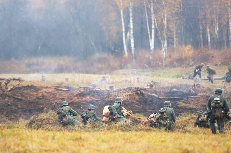 Campo de la guerra de la batalla fotos de archivo