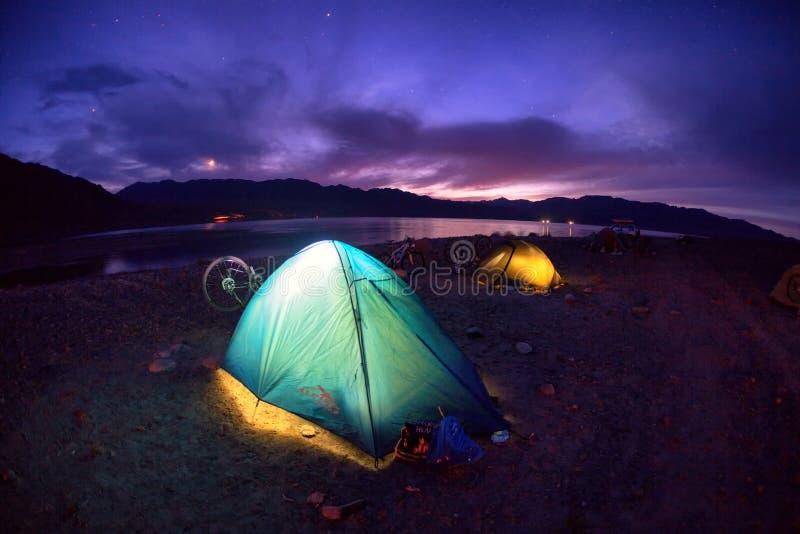 Campo de la noche imágenes de archivo libres de regalías