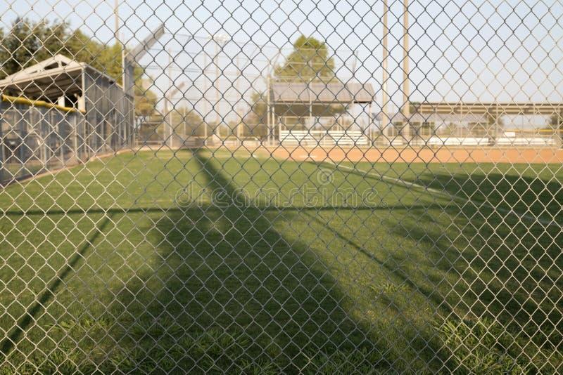 Campo de la práctica del béisbol fotografía de archivo libre de regalías