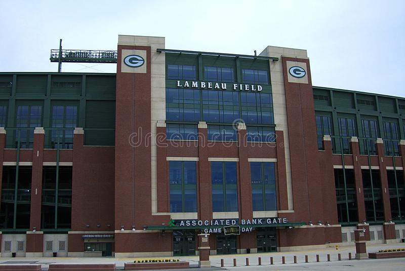 Campo de Lambeau - empacotador do Green Bay fotografia de stock