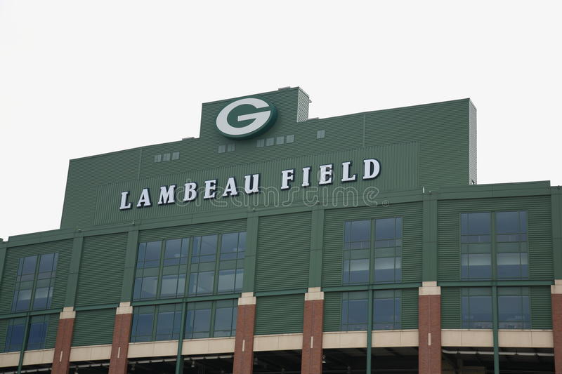 Campo de Lambeau - empacotador do Green Bay imagem de stock