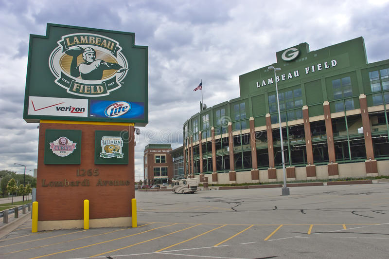 Campo de Lambeau, HOME dos empacotador do Green Bay imagem de stock