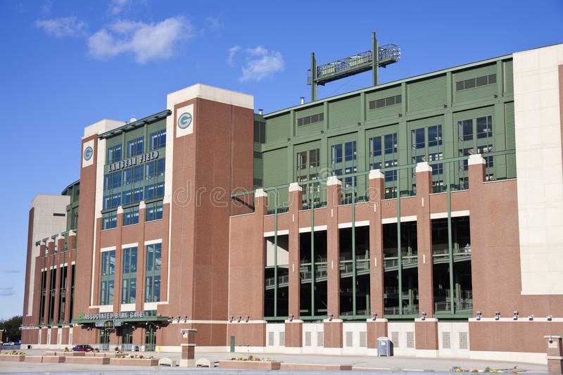 Campo de Lambeau no Green Bay, Wisconsin foto de stock