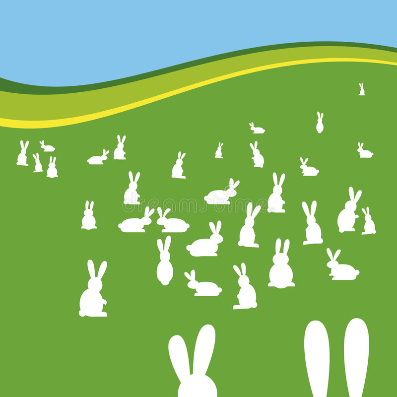 Campo de los conejos ilustración del vector
