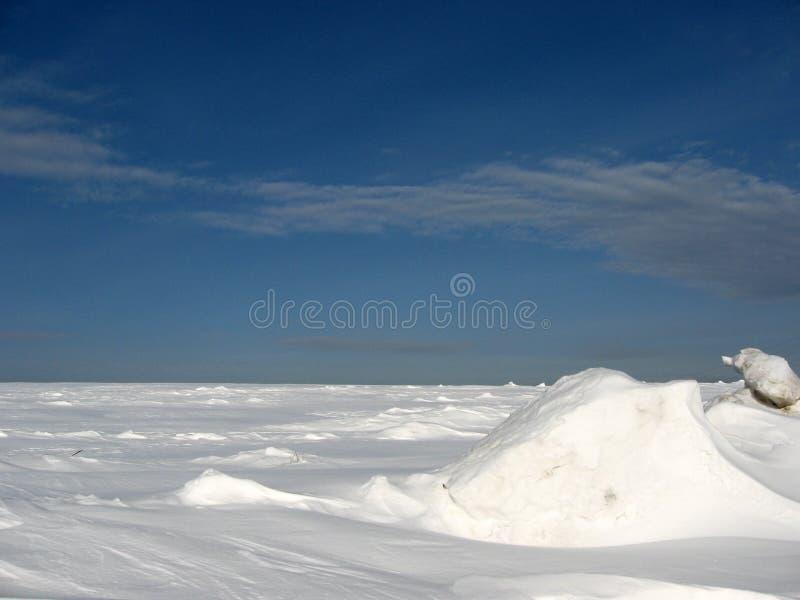 Campo de nieve fotografía de archivo