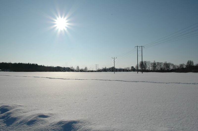 Campo de nieve foto de archivo