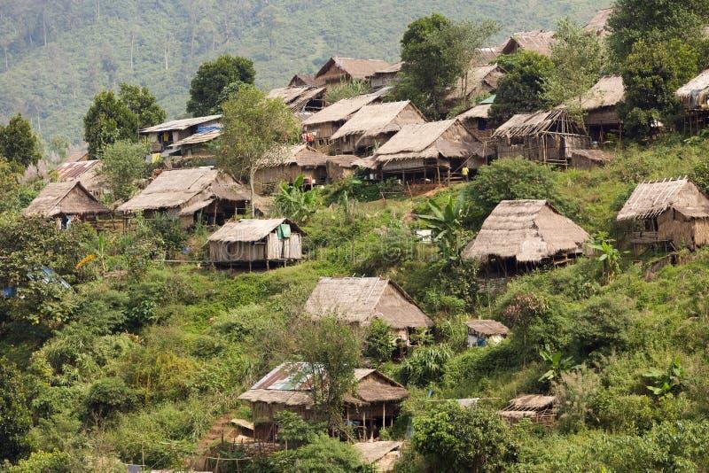 Campo de refugiados burmese imagens de stock