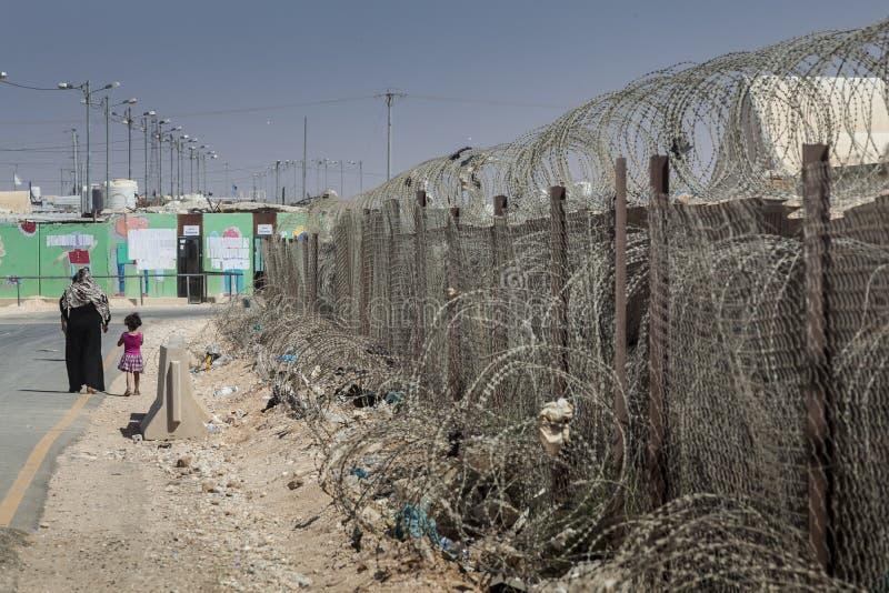 Campo de refugiados de Al Zaatari imagem de stock