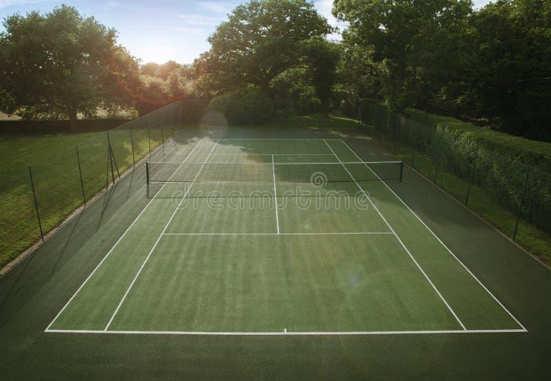 Campo de tênis fotografia de stock
