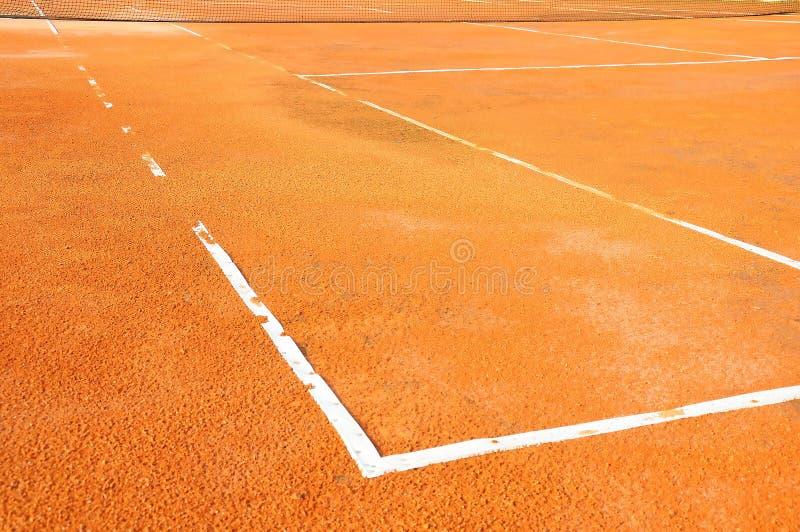 Campo de tênis com rede foto de stock