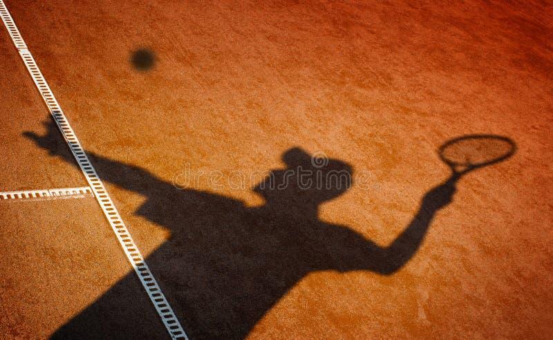 Campo de tênis da argila fotos de stock