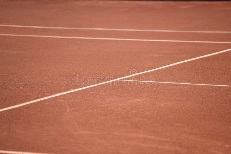 Campo de tênis da argila de Barcelona imagens de stock royalty free