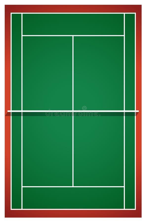Campo de tênis da vista superior ilustração stock