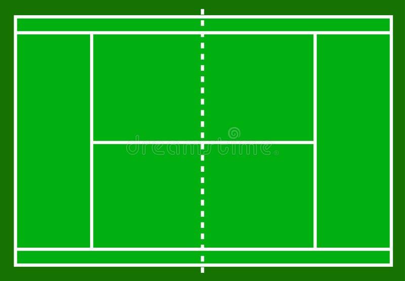 Campo de tênis Campo isolado no fundo branco, vetor conservado em estoque mim ilustração royalty free