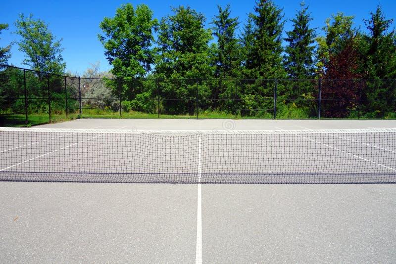Campo de tênis público fotografia de stock