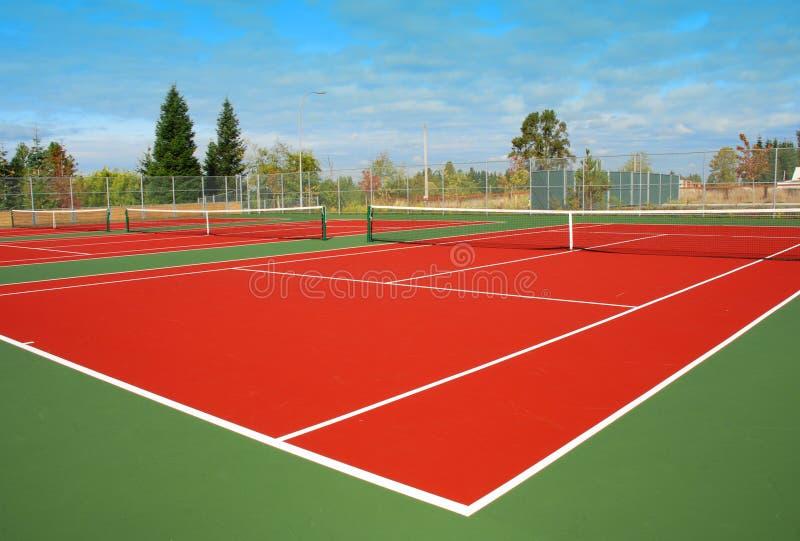 Campo de tenis foto de archivo libre de regalías