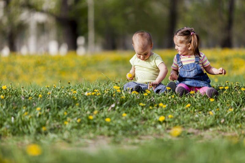 Campo dei bambini in primavera immagini stock libere da diritti
