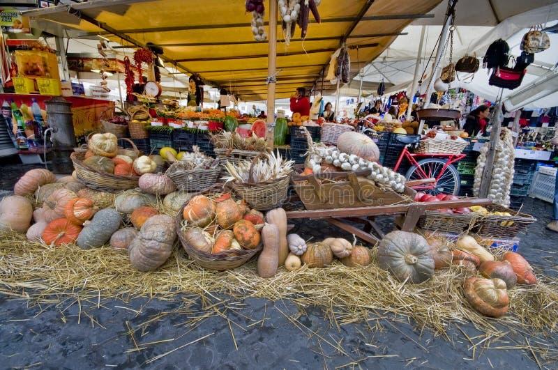 The Campo dei Fiori Atmosphere stock images