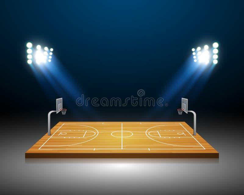 Campo del baloncesto libre illustration