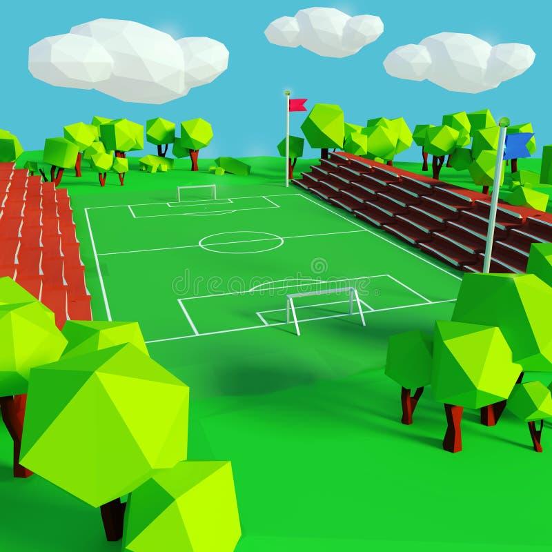 Campo del fútbol y de deportes ilustración del vector