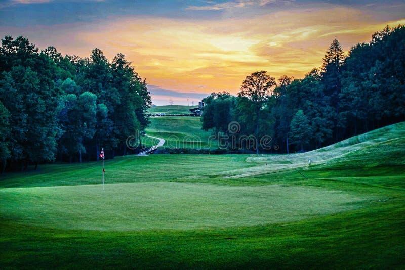 Campo del golf - coloreado fotos de archivo libres de regalías