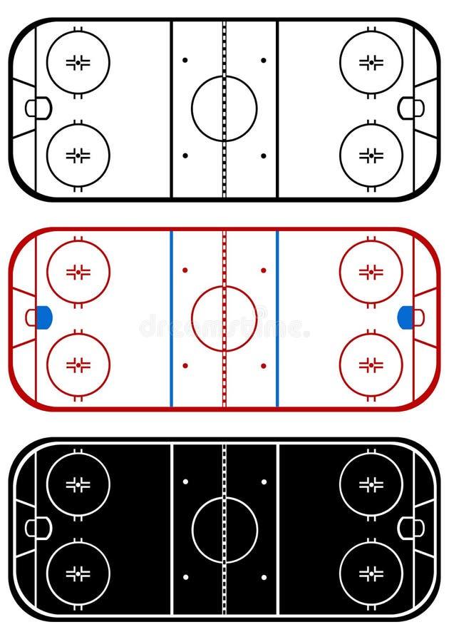 Campo del hockey sobre hielo libre illustration